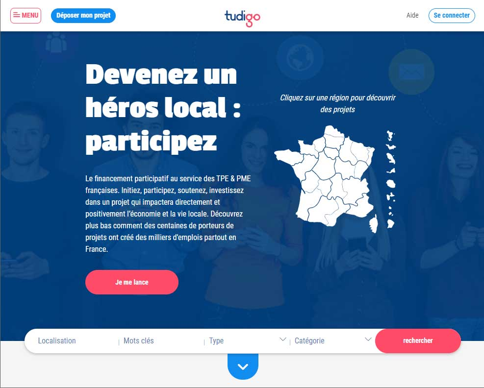 Tudigo – Financement participatif de entrepreneuriat local